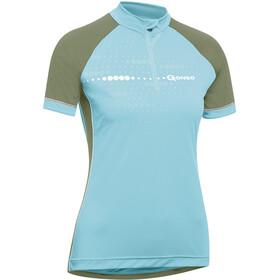 Gonso Kama Fietsshirt korte mouwen Dames blauw/olijf